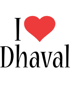 Dhaval i-love logo