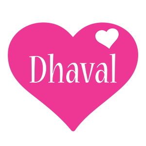 Dhaval love-heart logo