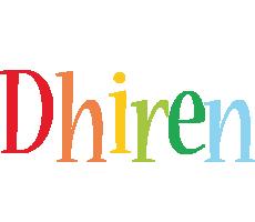 Dhiren birthday logo