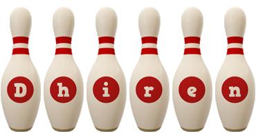 Dhiren bowling-pin logo