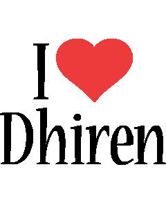 Dhiren i-love logo