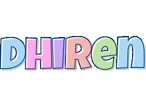Dhiren pastel logo
