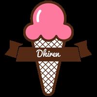 Dhiren premium logo