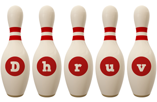 Dhruv bowling-pin logo
