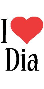Dia i-love logo
