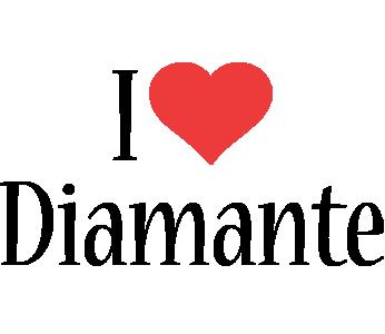 Diamante i-love logo