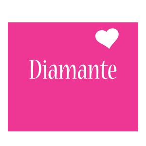 Diamante love-heart logo