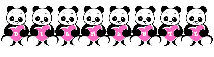 Diamante love-panda logo