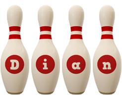 Dian bowling-pin logo