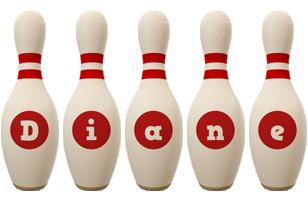 Diane bowling-pin logo