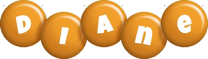 Diane candy-orange logo