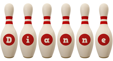 Dianne bowling-pin logo
