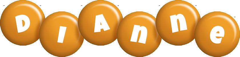 Dianne candy-orange logo
