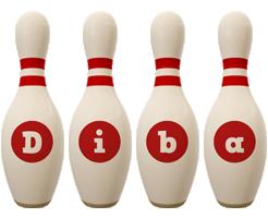 Diba bowling-pin logo