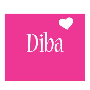 Diba love-heart logo