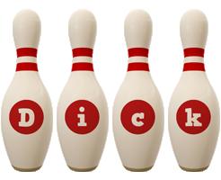 Dick bowling-pin logo