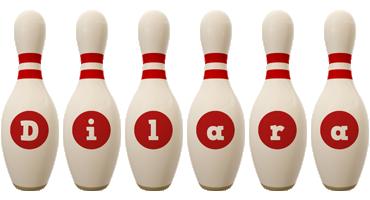 Dilara bowling-pin logo
