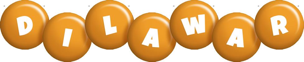 Dilawar candy-orange logo