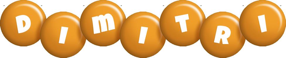 Dimitri candy-orange logo
