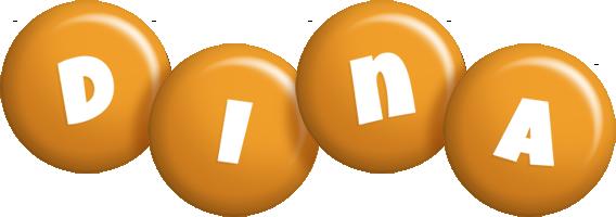 Dina candy-orange logo