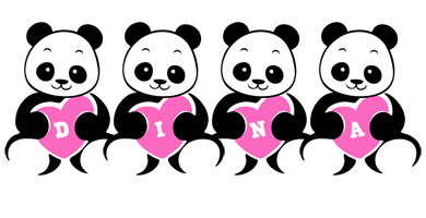 Dina love-panda logo