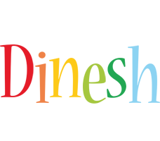 Dinesh birthday logo