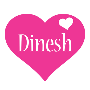 Dinesh love-heart logo