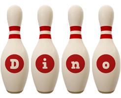 Dino bowling-pin logo