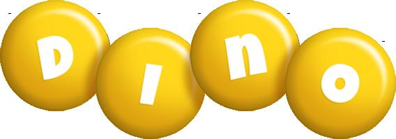 Dino candy-yellow logo