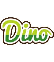 Dino golfing logo