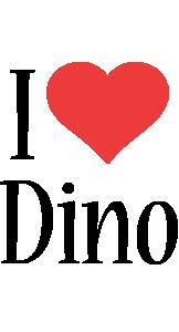 Dino i-love logo