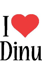 Dinu i-love logo