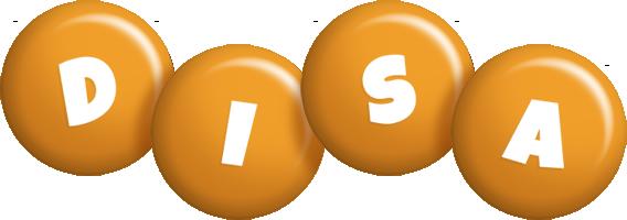 Disa candy-orange logo