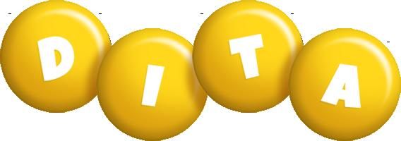 Dita candy-yellow logo