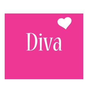 Diva love-heart logo