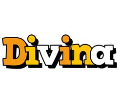 Divina cartoon logo