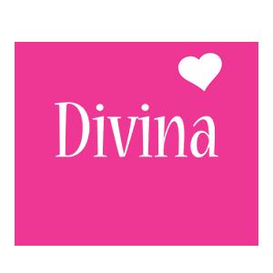 Divina love-heart logo