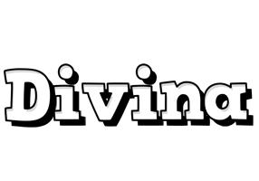 Divina snowing logo