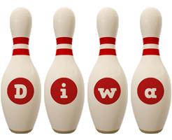 Diwa bowling-pin logo