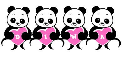 Diwa love-panda logo