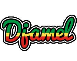 Djamel african logo