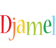Djamel birthday logo