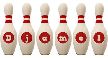 Djamel bowling-pin logo