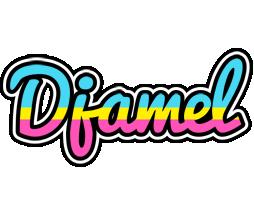 Djamel circus logo