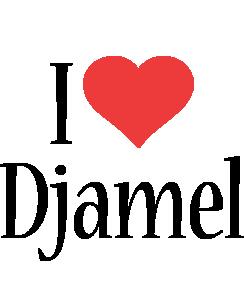 Djamel i-love logo