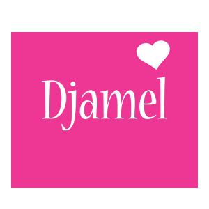 Djamel love-heart logo