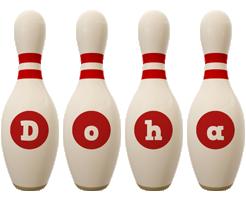 Doha bowling-pin logo