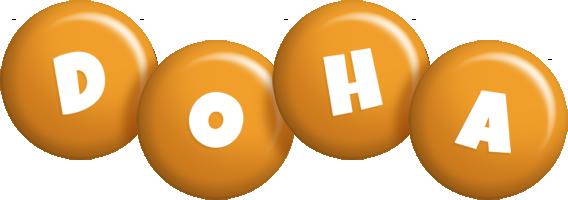 Doha candy-orange logo