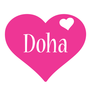Doha love-heart logo