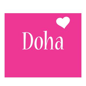 Doha love-heart logo